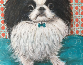 Custom Dog Portrait, Custom Pet Portrait, Custom Dog Painting, Custom Pet Painting, Pet Memorial, This is Example of Custom Painting
