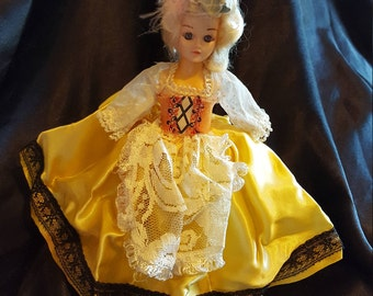 "Beautiful 1960's Reddi-Wip's Dolls of Many Lands Belgium 8"" Doll"