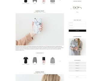 "WordPress Theme // Genesis Child Theme // ""Harper"""