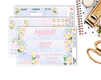 March Monthly Kit || for Erin Condren Life Planner || Planner Stickers