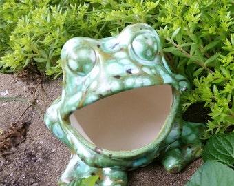 Ceramic Frog Scrubby Holder, Ceramic Frog, Frog Decor, Kitchen Frog, Frog  Scrubby