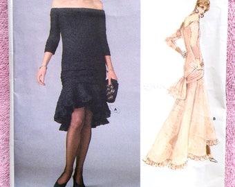 Vogue 1995 Sewing Pattern - UNCUT / Yves Saint Laurent 1980s Evening Dress / Vintage Dress Pattern