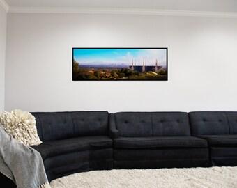 "LDS Las Vegas Nevada Temple Panorama 36""x12"" Print Unframed"