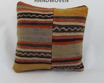 kilim pillow cover throw pillow kilim pillow case decorative pillow turkish cushion tapestry rustic pillow farmhouse decor home decor 000019