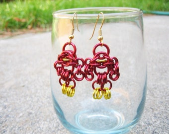 Flash Themed Chainmaille Maille Man Earrings