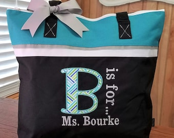 Tote Bag for Teacher or Teachers Aide or Dance or Special Appreciation Personalized Gift