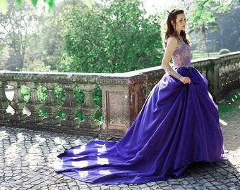 Purple Fairy Tale Wedding Dress