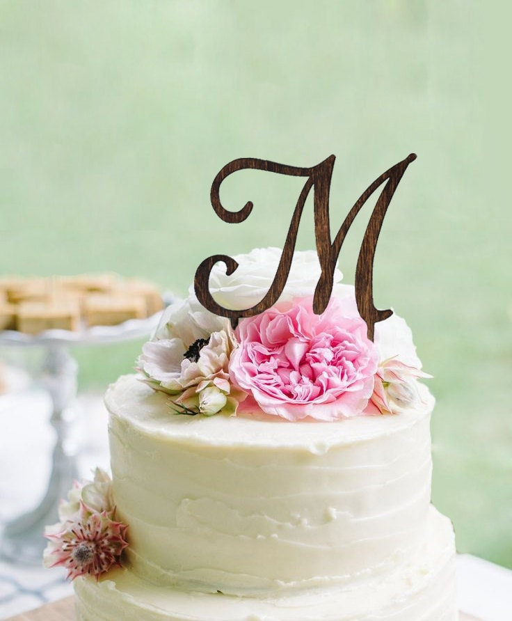 wooden wedding cake toppers monogram wedding cake topper wooden wedding cake topper 1488