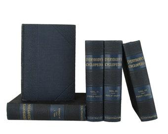Decorative Book Set,  Vintage Books, Interior Design, Home Decor, Antique Books, Home Decor, Book Decor, Old Book, Literature