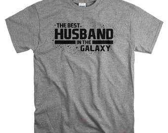 Anniversary Gifts for Him - Cotton Anniversary Gift for Husband - Best Husband In The Galaxy T Shirt