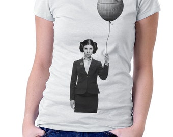 Women's graphic tshirt - Princess Leia - star wars geeky shirt, print t-shirt, gift for her, Carrie Fisher t shirt, gift for girlfriend wife