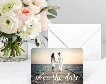 Handwriting - Card - Save the Date - Includes Back Side Printing + Envelope