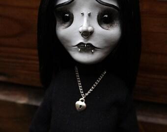 """Large 20.5"""" posable OOAK sad doll Nina (Mims Victims)"""