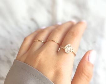 Wire wrapped herkimer diamond ring,gift for her,rose gold herkimer diamond ring,birthday gift,rose gold herkimer ring,cocktail ring,gemstone