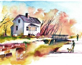 "Fine Art Print, ""Lock House No. 8"""