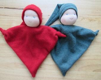 Waldorf-style Blanket Doll or Teething Doll
