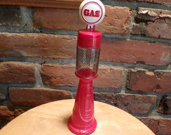 Gas Pump Bottle, Gas pump décor, Avon Gas pump, Vintage Avon Gas pump, Red gas pump, man cave decor, Glass gas pump, gas decor