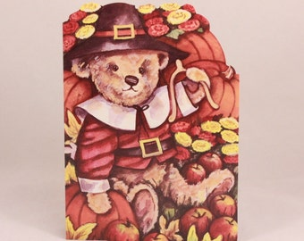 Sunrise Thanksgiving Greeting Card. One Card and Envelope. Bear