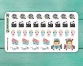 38 Movie Cinema Stickers / Erin Condren Planner Stickers / Planner Stickers