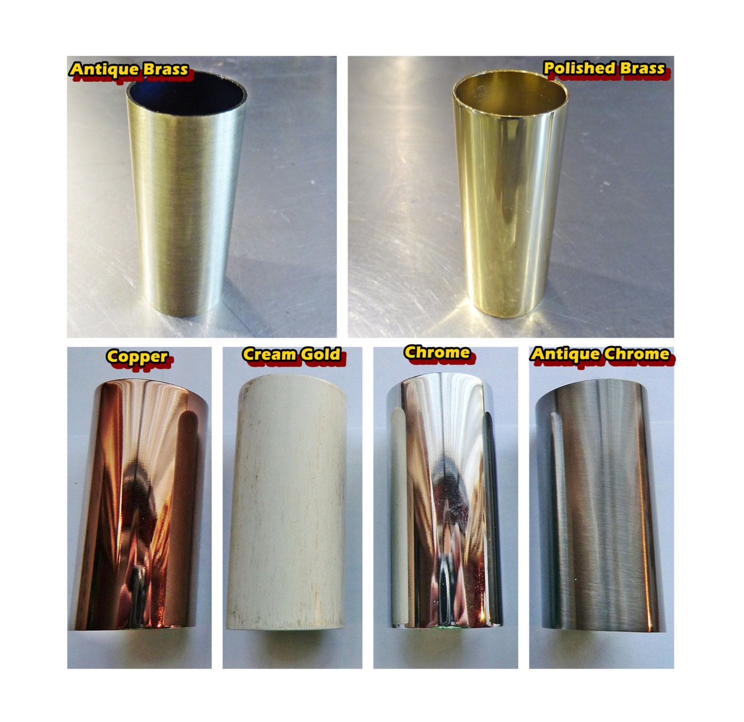 Choice of 6 Metal Candle Drips Bulb Sleeve Covers for Pendant