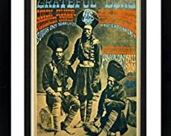 Grateful Dead Tribe Framed Concert Poster Framed & Mated 15x19 Inches