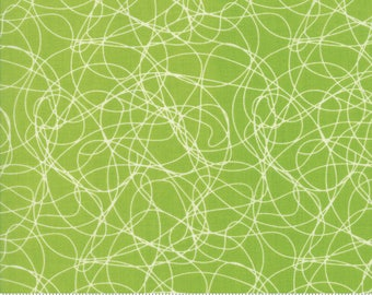 Mixed Bag 2017 Tangles fabric in Grass Green by Studio M for Moda Fabric #33204-26