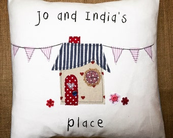 Personalised house warming cushion - House warming gift - New home - Personalised gift - Gift for a couple