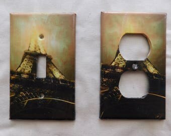 Eiffel Tower Switch Plates