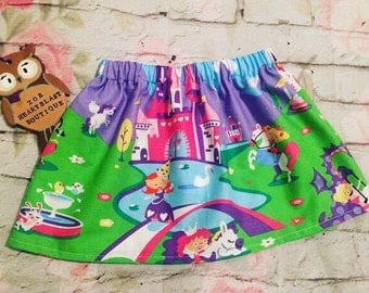 Girls Fairytale Princess Castle Skirt ~ Bright Bold And Beautiful Summer Spring Holiday Party Birthday Clothes ~ Baby Toddler Children Teen