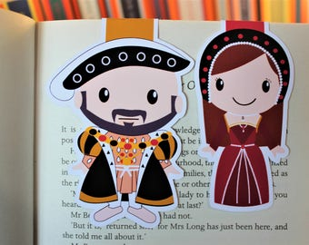 Set of Anne Boleyn and Henry viii Magnetic Bookmarks | Tudors