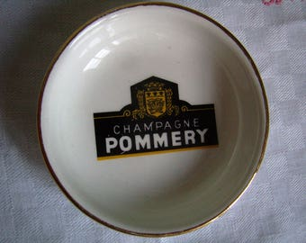 """Iconic """"Champagne Pommery"""", coasters, ashtray, Cup brilliant theme French chic Bistro Bar,"""