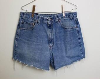 Levis Cut-Off Shorts Classic Denim BlueW36