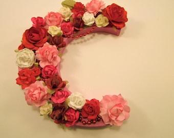Flower name letter - Personalized name letter - Nursery decor - Birthday gift - Floral name letter - Custom name letter - Custom letter C -