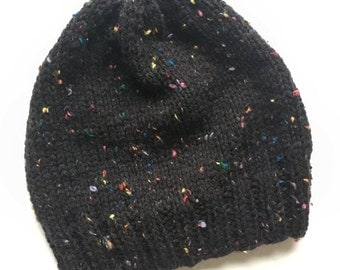 Charcoal speckled hat