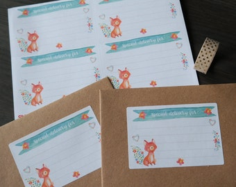 Mailing labels - Joyful Fox