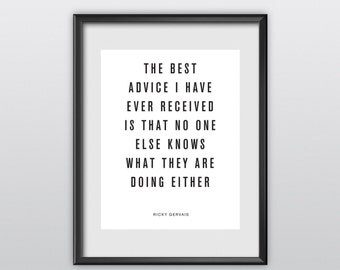 75% off Digital Download Typography Print Wall Decor The Best Advice I Have Ever Received Instant Download Printable Art Wisdom (T84)