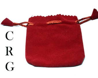 "New 3x4"" RED Deluxe Plush Velvet Pouch (BAG5)"