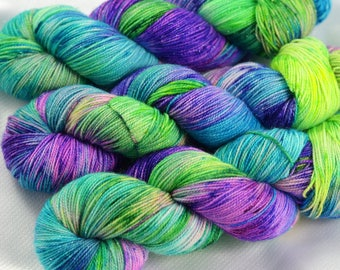 Indie Sock Yarn, Indie Dyed Yarn, Speckled Sock Yarn, Hand Dyed Yarn, Sock Yarn, Indie Sparkle Yarn, Indie Speckled Yarn, Underneath