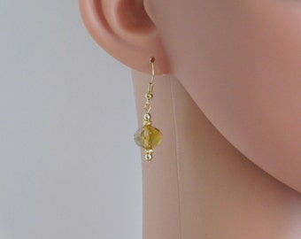 Topaz Bead Earrings