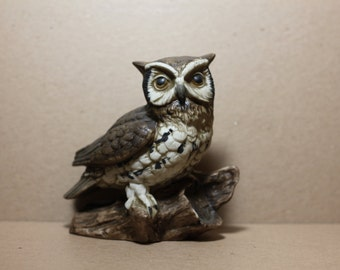 "White-Faced Owl Figurine on Branch - 5"" x 5"""