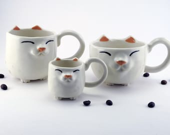 Happy Kitty Mug™ - Solid Colors