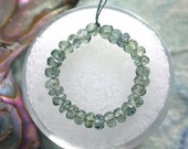 28 Blue-Green Sapphire Beads, 3mm Faceted Rondelle Sapphire Beads, Sapphire Beads, Faceted Sapphire Beads GEM-006-1