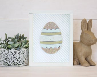 Pieced Egg | DIY Pocket Frame Insert Kit | SIZE B | Frame Not Included | 2 Egg Styles Available