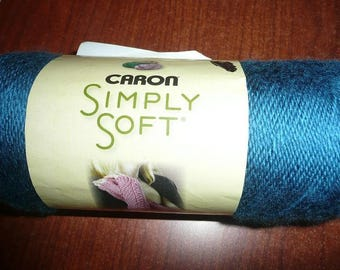 Caron Simply Soft Yarn Skein Ocean Blue Color