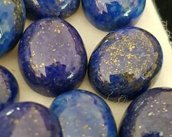 Quality Natural 57.39ct 10 Piece Afghani Lapis Lazuli Cabochon Parcel