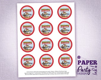 Toy Story Party Thank You Tags, Toy Story Thank You Tags, Toy Story Thank You Favor Tags, Toy Story Party Thank You Labels and Tags