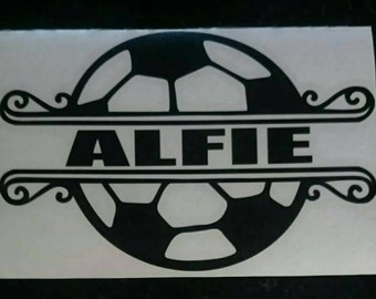 Football fanatic bedroom door sticker