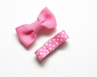 Baby Bow Snap Clips
