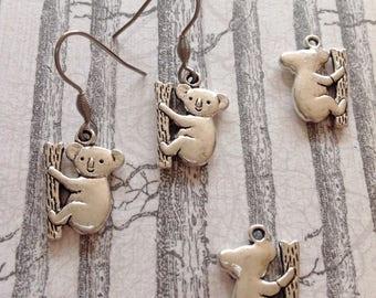 Koala Bear Earrings Koala Bear Charm Australian Bear Tree Bear Koala Jewellery Koala Earrings Aussie Bear Australian Themed Little Bear