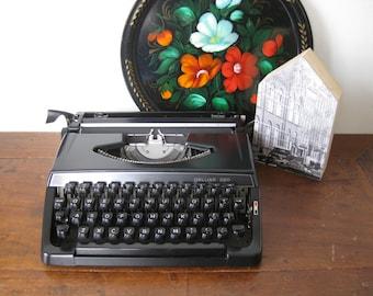 Working Typewriter Vintage Portable Black Brother Deluxe 220 1973